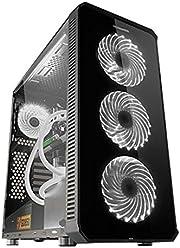 NOX Hummer TGX Black Tower Computer Case – Box of Computer (Tower, PC,