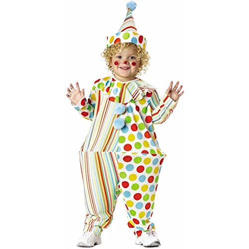 Toddler Hooped Clown Costume, Size Toddler 2T-4T -