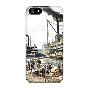 6Plus LtV1033Ewfw Protective Case For Iphone 5/5s(steamboats On The Mississippi 1907)