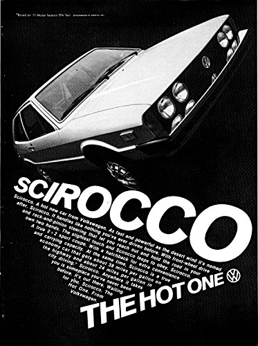 (1975 VW Scirocco 2+2 Sports Coupe-The Hot One-Volkswagen-Original Magazine Ad)