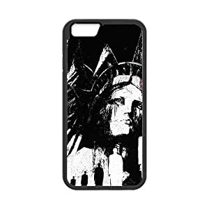 Statue of Liberty Illustration iPhone 6 4.7 Inch Cell Phone Case Black DIY GIFT pp001_8147436