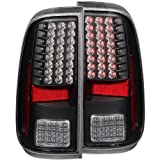 Anzo USA 311127 Ford Super Duty Black LED Tail Light Assembly – (Sold in Pairs)