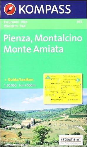 Pdf livres téléchargeables Carte touristique : Pienza, Montalcino, Monte Amiata PDF