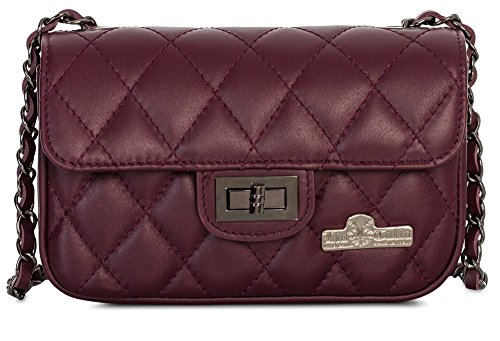Padded wxhxd 20x14x7 Burgundy Small Style Leather Lady Bag Genuine Small Vintage And Bhbs Cm Evening q5w1Z77