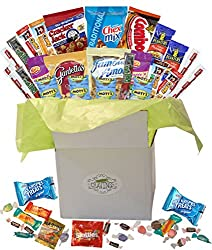 Snack Gift Basket Care Package with 26 Sweet and Salty Snacks Plus Bonus Candy | For College Students, Thank You Gifts, Military Appreciation, Birthday Gift Ideas, or Thinking of You by Sophie's Favorite Things