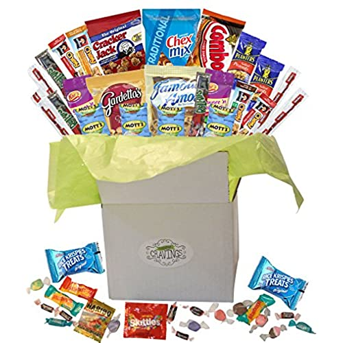 Candy gift basket amazon snack gift basket care package with sweet and salty snacks 26 count plus bonus candy for college students thank you gifts military appreciation negle Image collections
