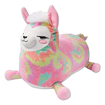"Josie the Llama 20"" Jumbo Squishmallow from Justice - Large Stuffed Animal - Girls Soft and Squishy Pink Plush Pillow: Toys & Games"