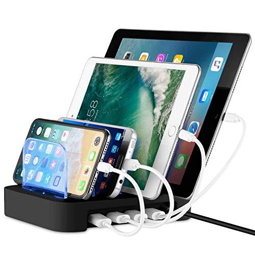Nexgadget Detachable Universal Multi-Port USB Charging Station, 24W 4-Port USB Charging Dock