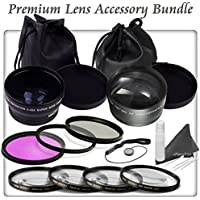 Premium Lens Accessory Bundle for Nikon D3100, D3200, D3300 Digital SLR Cameras: Includes HD Lense, HD Filters & Close Up Macro Filters