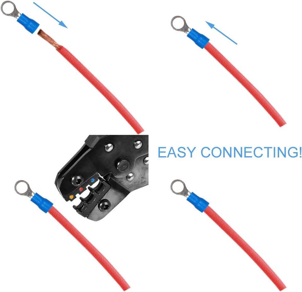 Auidy/_6TXD 400pcs Crimp Connectors Electrical Wire Connectors Set with One Transparent Case