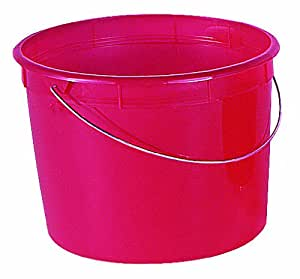 Encore Plastics 5160 Red Plastic Springform Pail, 5-Quart