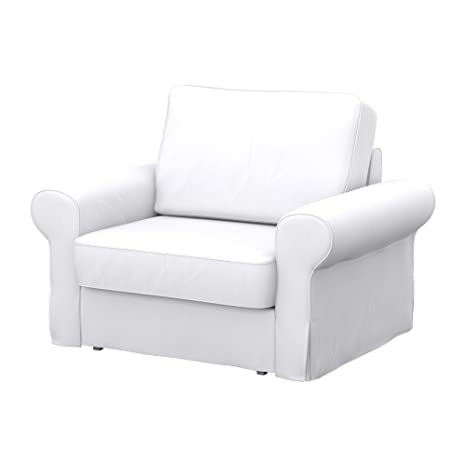Soferia - IKEA BACKABRO Funda para sillón, Eco Leather White ...