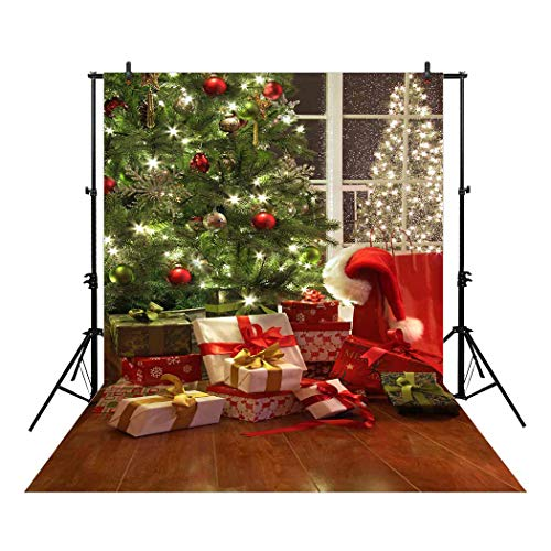 Allenjoy 5x7ft Christmas Backdrop Winter Holiday Indoor Tree