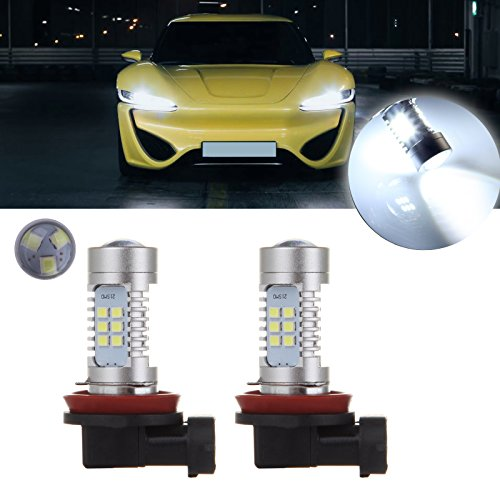 cciyu 2 X 1200 Lumens Super Bright White 30-EX Chipsets H11 LED Bulbs with Projector Replacement fit for DRL or Fog Lights