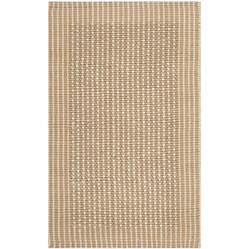 Safavieh Natural Fiber Collection NF449A St Lucia Loop Ivory and Beige Sisal Area Rug (2'6