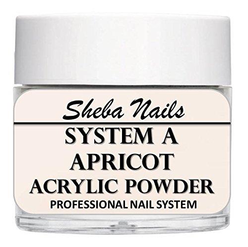 - SHEBA NAILS System A Acrylic Nail Powder APRICOT- 16oz Jar