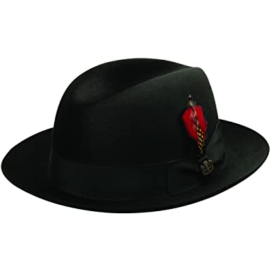 ee14814b0204d Biltmore Chicago Fur Felt Fedora Hat at Amazon Men s Clothing store  Fedoras