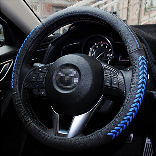 Vesul Blue Steering Wheel Glove Leather Cover For Mazda 3 Axela Mazda 6 CX-5 CX5 2013 2014 2015 2016
