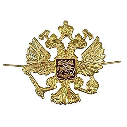 - 51Jad1cakEL - Russian Military Army Imperial Eagle Crest Hat Pin Badge KOKARDA