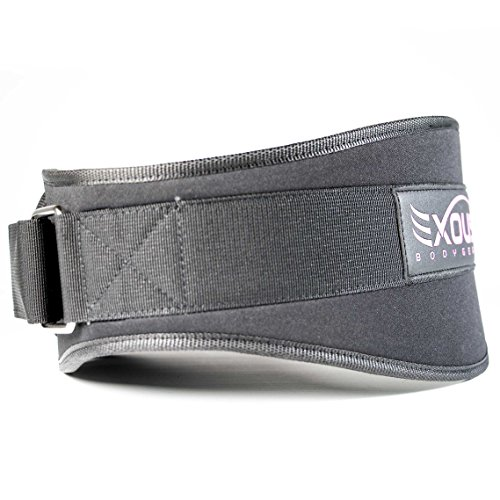 EXOUS Bodygear Women's Weight-lifting Gym Belt Countoured Fit Firm Eva Foam Low Profile 5.5