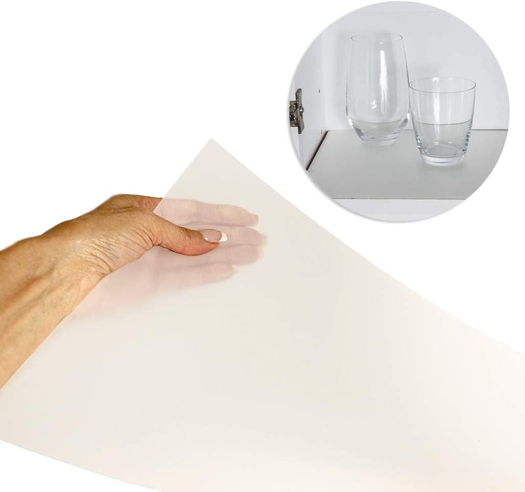 """Sterling Shelf Liners Value Pack Rigid Non-Adhesive Shelf Liner, Wall Cabinet (6PK): 10.65"""" X 34.31"""" -Transparent Clear"""