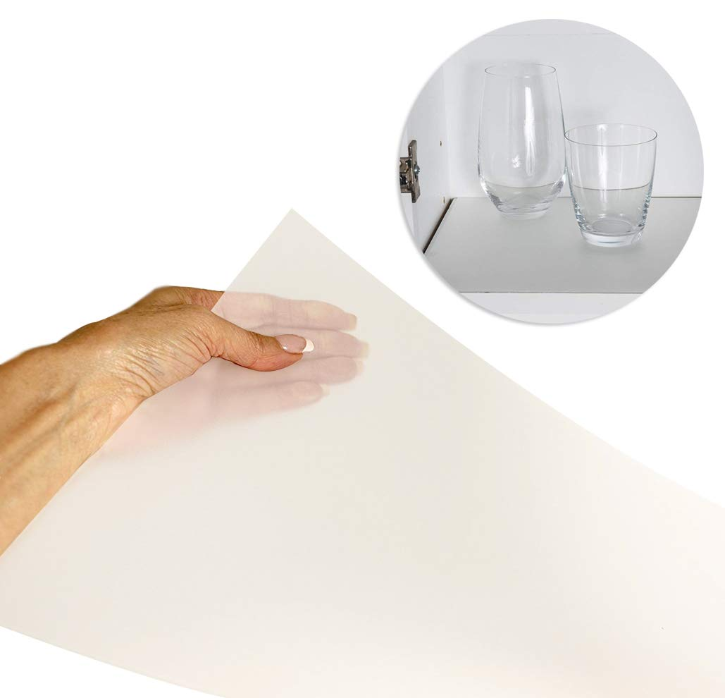 "Sterling Shelf Liners Value Pack Rigid Non-Adhesive Shelf Liner, Base Cabinet (2PK) : 22.385"" X 34.31"" -Transparent Clear"