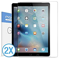 iPad Pro Screen Protector, Maxboost Glass Screen Protector For Apple iPad Pro (2015)[Tempered Glass] 0.3mm Ballistics Glass Screen Case Protection 99% Touch Accurate Fit[2Pack]