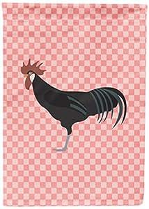 Caroline's Treasures BB7841GF Minorca Ctalalan Chicken Pink Check Garden Flag, Multicolor