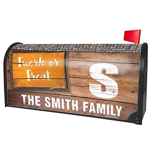 NEONBLOND Custom Mailbox Cover Twerk or Treat Halloween Orange Wallpaper