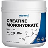 Nutricost Creatine Monohydrate 500G - 100 Servings, 5000mg Per Serv - Pure Creatine Monohydrate