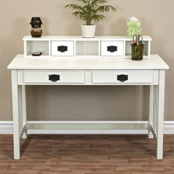 wooden desks for home office. best choice products mission white solid wood writing desk home office computer wooden desks for m