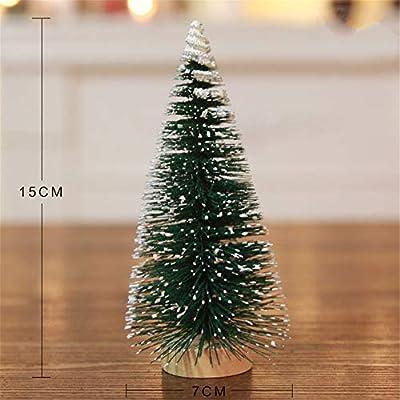 Mini árbol de Navidad - 1Pc Mini árbol de Navidad Snow Frost Inicio Decoración de Mesa Bricolaje Pequeños árboles de Pino Regalo para niños (15 cm): Amazon.es: Hogar