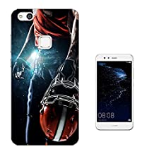 002671 - Awesome American Football Player Helmet Sports Design Huawei P10 Lite Fashion Trend CASE Gel Rubber Silicone All Edges Protection Case Cover