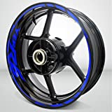 Yamaha YZF R6 Gloss Blue Motorcycle Rim Wheel Decal Accessory Sticker