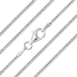 The Chain Company - Sterling Silver 16' 18' 20' 24' 28' 30' Inch 1.5mm Thick Italian Curb Chain Necklac