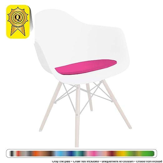 Decopresto Venta 1 x Almohadilla Personalizada para la Silla escandinava Material: imitación de Cuero Color: Fuschia DP-PADA-FU-1P