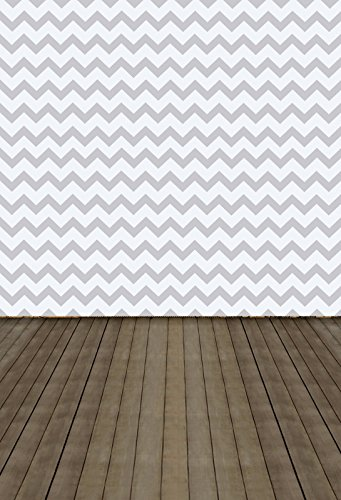 Yeele Chevron Backdrops 8x10ft /2.4 X 3M Silver Grey Stripe Grey Wooden Floor Pictures Adult Artistic Portrait Photoshoot Props Photography Background
