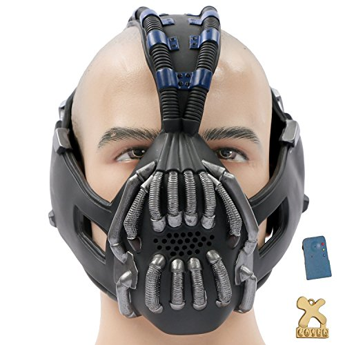 Coslive TDKR Batman Bane Mask Replica with Voice Changer Newest Version for Halloween Costume Cosplay 2013 ()