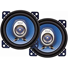 """4"""" Car Sound Speaker (Pair) - Upgraded Blue Poly Injection Cone 2-Way 180 Watt Peak w/ Non-fatiguing Butyl Rubber Surround 110 - 20Khz Frequency Response 4 Ohm & 3/4"""" ASV Voice Coil - Pyle PL42BL"""