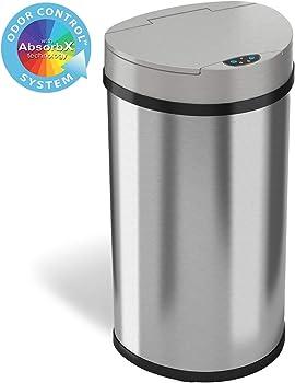 iTouchless 13 Gallon Sensor Kitchen Trash Can