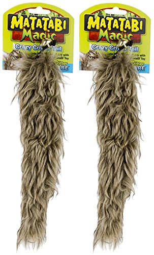 - Ware 2 Pack of Dog/Cat-Matatabi Crazy Critter Tail, Brown