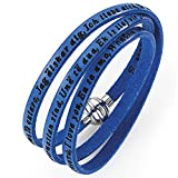 Holyart Amen bracelet I love you, blue, 54 cm (21.28 inc.)
