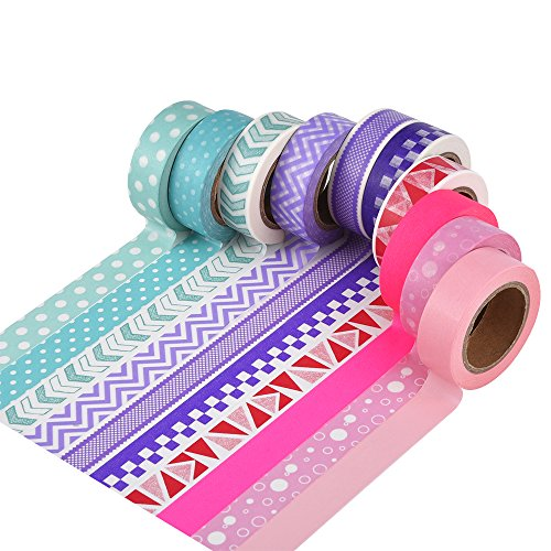 Mudder 10 Rolls Washi Tapes