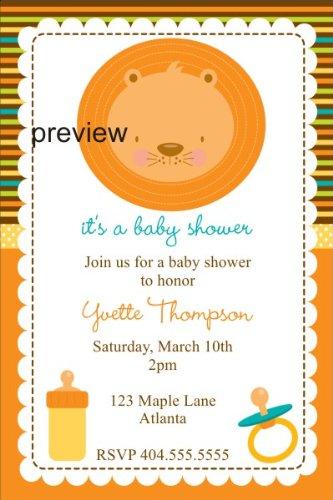 Amazon.com: Bebé león baby shower invitación: Health ...