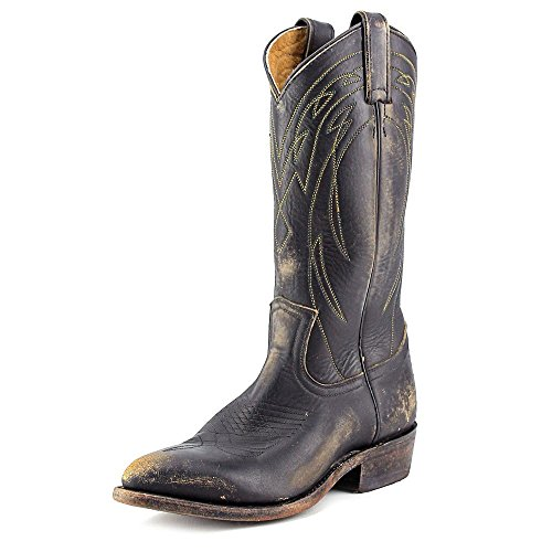 FRYE Women's Billy Pull On Black Washed Oiled Vintage Boot 7 B (M)