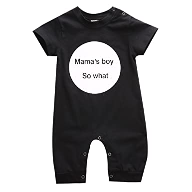 c83ee4bf0 Gobrillant Infant Newborn Baby Girl Bodysuit Mama's Boy Romper Jumpsuit Outfits  Clothes (0-6