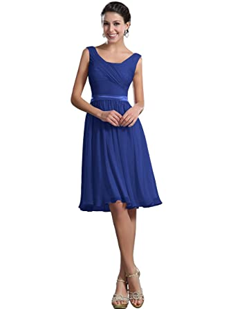 Remedios A-Line Chiffon Bridesmaid Dresses Short Party Gown for ...