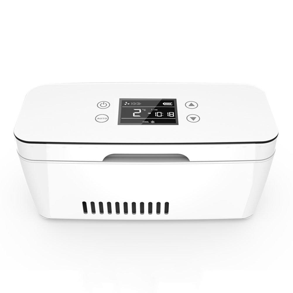 LIQICAI Portable Insulin Kühlschrank Kühler Intelligente Elektrische Kühlbox Mini-Kühlschrank für Diabetes-Spritzen 12V 230V (Farbe   Battery1)
