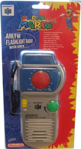 SUPER MARIO 64 - Authentic AM/FM Flashlight Radio with Siren