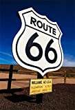 OFILA Historic Route 66 Backdrop 5x7ft U.S.Mother Road Williams Arizona Highway Line Ancient Road Sign American Nation Main Street Dessert Adult Riding Travel Photos Props